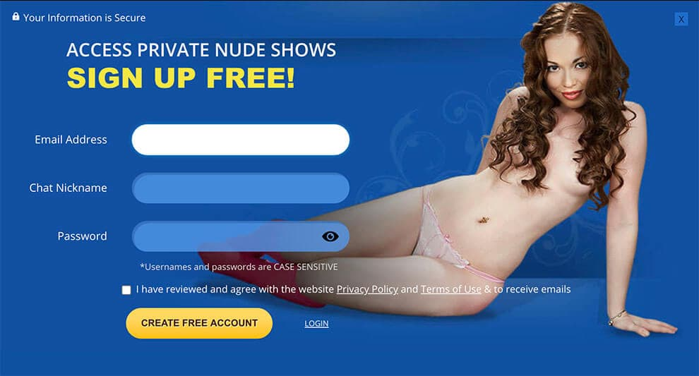 The Procedure of sign up on Flirt4Free
